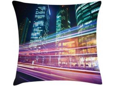 Abakuhaus Kissenbezug »Waschbar mit Reißverschluss Kissenhülle mit Farbfesten Klaren Farben Beidseitiger Druck«, Stadt Moderne Fotografie Shanghai