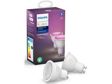 Philips Hue »White and Color Ambiance Doppelpack 2x350lm« LED-Leuchtmittel, GU10, 2 Stück, Warmweiß, Tageslichtweiß, Neutralweiß, Extra-Warmweiß