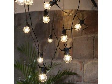 STAR TRADING LED-Lichterkette »LED Lichterkette CIRCUS - 20 kleine Kugeln, D: 5cm - Filament LED - 8,8m - inkl.Trafo - outdoor«, 20-flammig