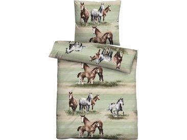 Biberna Jugendbettwäsche »Anastasia«, mit Pferden, 1 St. x 155 cm x 220 cm