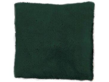 Andiamo Fellkissen »Lamm Fellimitat«, Dekokissen, eckig, 40x40 cm, Kunstfell, inkl. Kissenfüllung, besonders weich durch Microfaser, Wohnzimmer, grün
