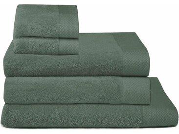 Seahorse Handtuch Set »Pure« (Set, 5-tlg), mit Strukturbordüre, grün, grün