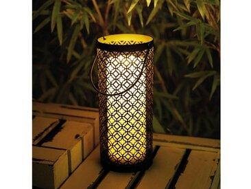 Pauleen LED Laterne »Lover inkl. Kerze Batterie Schwarz/Weiß Metall/Kunststoff«