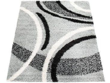 Paco Home Hochflor-Teppich »Mango 301«, rechteckig, Höhe 35 mm, Moderner Hochflor Shaggy Teppich, grau, grau