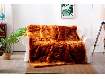 Star Home Textil Wohndecke »Zobel«, aus besonders weichem Webpelz, braun, honigfarben