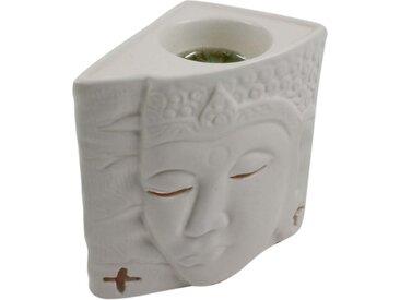 Guru-Shop Duftlampe »Keramik Duftlampe - Buddha 1 weiß«, Buddha 1 weiß