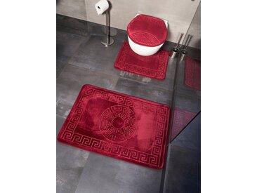ZELLERFELD Badematte »Trendmax Marmour 3-teilig Bad Matte Dusche Set von 2 Rutsch Stand Bad Matten Wasser absorbierende Toillette Badezimmer Teppich, 1x Matte für Toilettendeckel«
