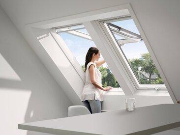 VELUX Dachfenster »GPU SK06«, Klapp- Schwingfenster, BxH: 114x118 cm, grau, Kippfunktion, anthrazit