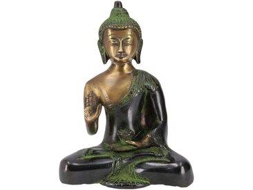 Guru-Shop Buddhafigur »Buddha Statue aus Messing Bhumisparsa Mudra 18..«