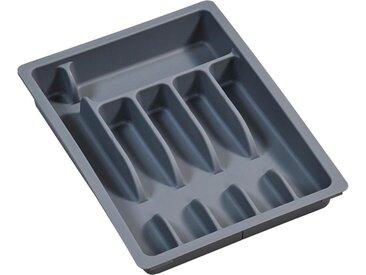 KESPER for kitchen & home Besteckkasten, variabel ausziehbar, Kunststoff, grau, grau