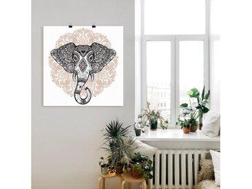 Artland Wandbild »Vintage Mandala Elefant«, Wildtiere (1 Stück), Poster