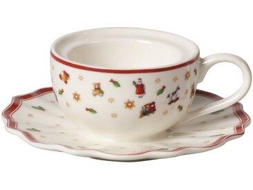Villeroy & Boch Teelichthalter Kaffeetasse »Toy's Delight Decoration«, weiß, 9,8x9,8x4cm, weiß,rot