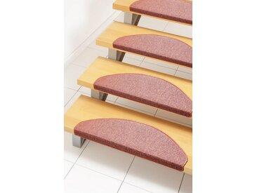 Andiamo Stufenmatte »Rambo«, halbrund, Höhe 4 mm, melierte Schlinge, 15 Stück in einem Set, orange, terra