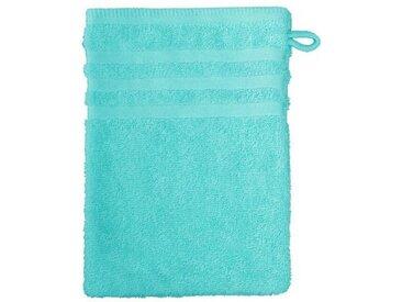 grace grand spa Waschlappen (3-tlg), im 3er-Pack mit Streifen-Bordüre, blau, türkis