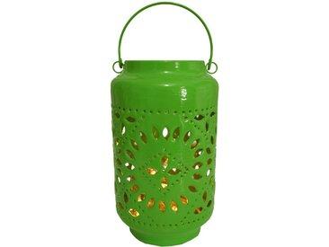 Guru-Shop Windlicht »Metall-Laterne, Windlicht, Gartenlaterne in 5..«, grün, grün-pink,altrosa