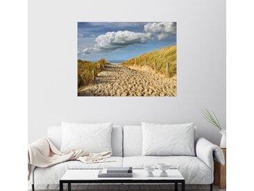 Posterlounge Wandbild, Durch die Dünen zum Strand, Acrylglasbild