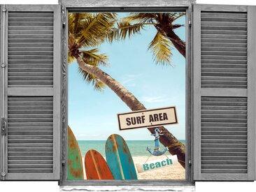 queence Wandtattoo »Surf Beach« (1 Stück)