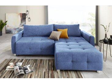 COLLECTION AB Ecksofa, inklusive Bettfunktion und Bettkasten, blau, blau