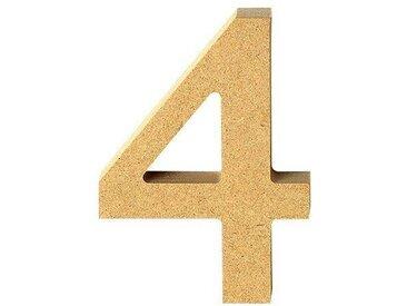 "VBS MDF Zahl, bunt, Ziffer ""4"""