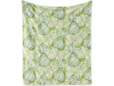 Abakuhaus Foulard »Gemütlicher Plüsch für den Innen- und Außenbereich«, Blätter Pflanzen Abstrakte Motive
