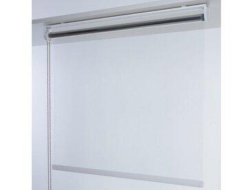 Liedeco Seitenzugrollo »Infektionsschutzrollo«, transparent, freihängend, Infektionsschutzrollo Trennwand Transparentes Rollo, weiß, silberfarben