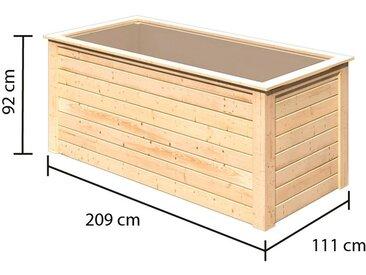 Karibu Hochbeet, BxTxH: 209x111x92 cm