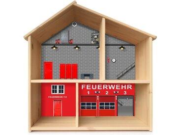 STIKKIPIX Möbelfolie »PHF03«, Feuerwehr Aufkleber, passend für das Puppenhaus FLISAT von IKEA (Puppenhaus nicht inklusive)