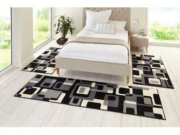 HANSE Home Bettumrandung »Retro« , Höhe 9 mm, Kurzflor, gekettelt, schwarz, schwarz