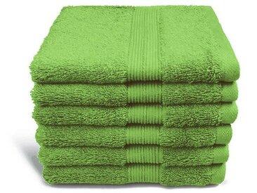 grace grand spa Duschtuch »Avantgarde« (1-St), mit breiter Webbordüre, grün, hellgrün