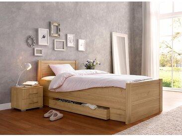 priess Bett, mit Komforthöhe, braun, mit Schubkästen, edelbuchefarben