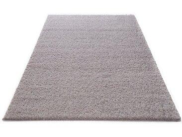 Home affaire Hochflor-Teppich »Shaggy 30«, rechteckig, Höhe 30 mm, gewebt, grau, silberfarben