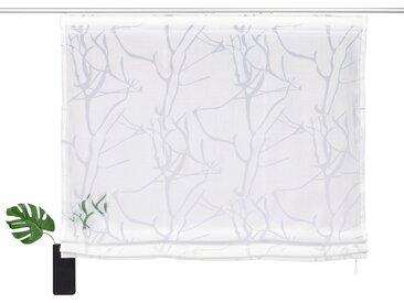 my home Raffrollo »Anna«, mit Klettband, weiß, weiß