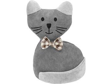 Lashuma Türstopper »Katze«, Türsack 25 cm, schwer gefüllter Bodenstopper, grau, Grau