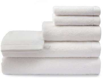 grace grand spa Duschtuch »Absolut« (1-St), mit breiter Abschlusskante, weiß, weiß