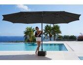 garten gut Sonnenschirm »Fuerteventura«, LxB: 460x250 cm, Inkl. Schutzhülle, ohne Schirmständer, grau, grau