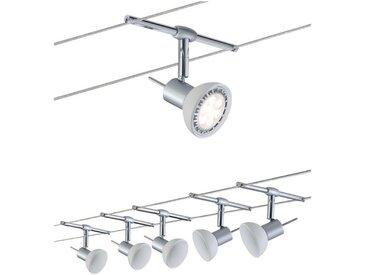Paulmann LED Deckenleuchte »Seilsystem Sheela Chrom matt mit 5 Spots max. 10W GU5,3«, Seilsystem, 5-flammig