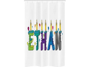 Abakuhaus Duschvorhang »Badezimmer Deko Set aus Stoff mit Haken« Breite 120 cm, Höhe 180 cm, Ethan Kerzen Ballon