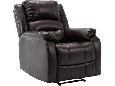 CLP Multimediasessel »Kerpen«, Ruhesessel mit Liegefunktion mit Armlehnen ergonomische Sitzposition, braun, braun