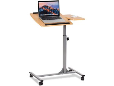 COSTWAY Laptoptisch »Laptoptisch«, Notebooktisch Pflegetisch Rolltisch Betttisch Sofatisch, auf Rollen, höhenverstellbar und neigungsverstellbar