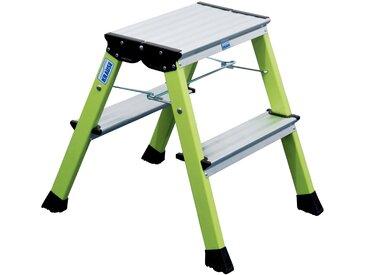 KRAUSE Klapptritt »Rolly«, 2 x 2 Stufen, grün, 2 x 2, grün