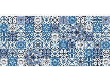 Artland Küchenrückwände »PGMart: Orientalische Fliesen«, blau, 120x55 cm, Blau