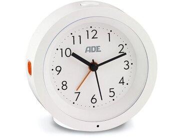 ADE Wecker »CK1719« analog, geräuschloser Wecker ohne Ticken mit automatischem Nachtlicht-Sensor, weiß, weiß, weiß