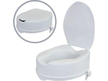 flexilife Toilettensitzerhöhung WC Sitz Erhöhung Toilettensitzerhöhung 10 cm Toilettenaufsatz mit Deckel