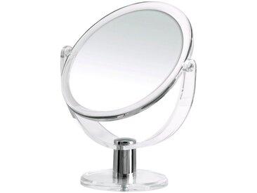 RIDDER Kosmetikspiegel »Kida«, ohne Beleuchtung, weiß, 19 cm, transparent