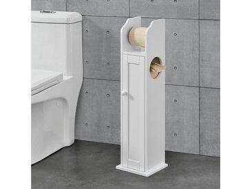 en.casa Toilettenpapierhalter, »Falkenberg« Badregal mit Ablagefach