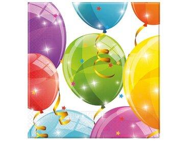 Procos Servietten zweilagig Sparkling Balloons 33 x 33 cm, 20 Stück