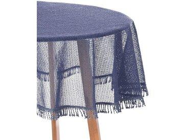 Woltu Gartentischdecke, Tischdecke mit Quaste geschäumt rund, blau, dunkelblau