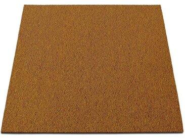 casa pura Teppichfliese »Lyonn«, quadratisch, Höhe 6 mm, Selbstliegend, gelb, Curry-Gelb