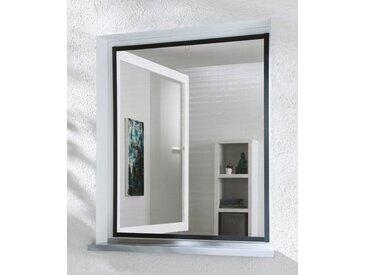 hecht international HECHT Insektenschutz-Fenster »MASTER SLIM«, anthrazit/anthrazit, BxH: 80x100 cm, grau, Fenster, 80 cm x 100 cm, anthrazit