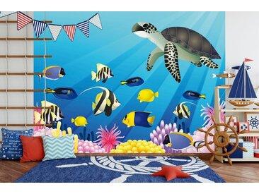 Bilderdepot24 Fototapete, Kinderbild Unterwasser Tiere II, selbstklebendes Vinyl, bunt, Kinderbild Unterwasser Tiere II, bunt